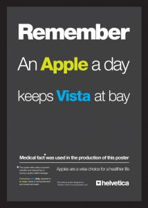 A great example of good typography usage in an ad for iMac.