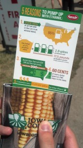 A discount coupon for fuel also shares message about ethanol production.