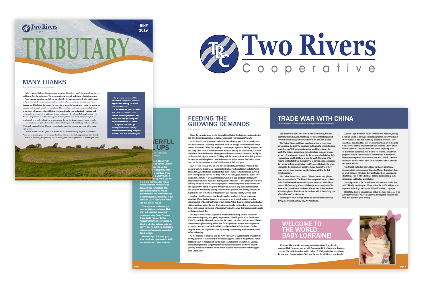 Two Rivers Cooperative Tributary Newsletter